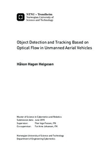 Object Detection and Tracking Based on Optical Flow in Unmanned