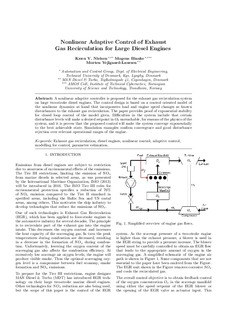 Nonlinear Adaptive Control of Exhaust Gas Recirculation for