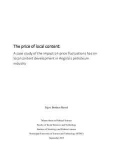 The price of local content : a case study of the impact oil