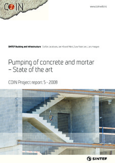 Pumping of concrete and Mortar - State of the art