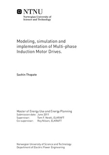 Modeling, simulation and implementation of Multi-phase