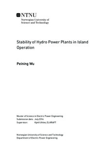 Stability of Hydro Power Plants in Island Operation