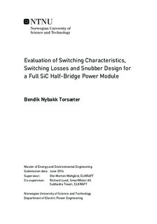 Evaluation of Switching Characteristics, Switching Losses