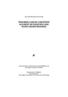 Towards a socio-cognitive account of flouting and flout-based meaning