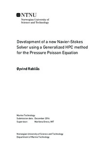 Development of a new Navier-Stokes Solver using a Generalized HPC