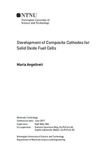 Development of Composite Cathodes for Solid Oxide Fuel Cells
