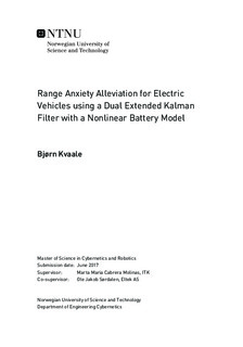 Range Anxiety Alleviation for Electric Vehicles using a Dual