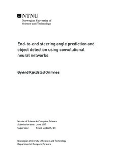 End-to-end steering angle prediction and object detection using