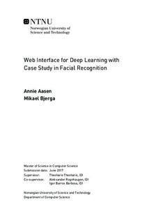 Web Interface for Deep Learning with Case Study in Facial