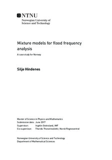 Mixture models for flood frequency analysis - A case study