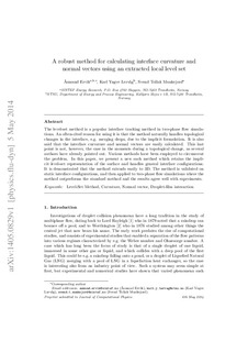 A robust method for calculating interface curvature and normal