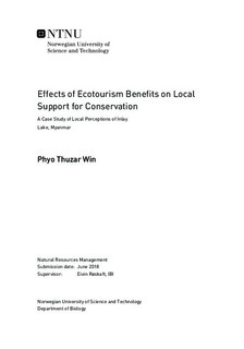 Effects of Ecotourism Benefits on Local Support for