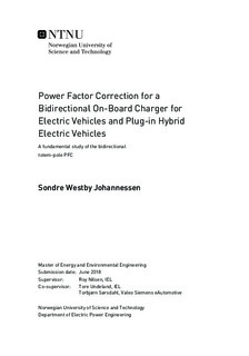 Power Factor Correction for a Bidirectional On-Board Charger for