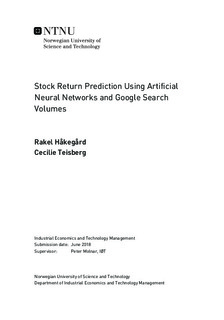 Stock Return Prediction Using Artificial Neural Networks and