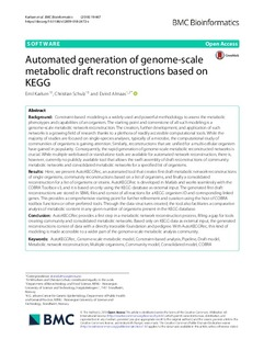 Automated generation of genome-scale metabolic draft