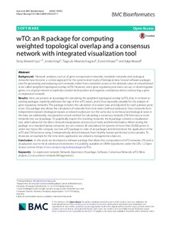 wTO: An R package for computing weighted topological overlap