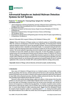 Adversarial Samples on Android Malware Detection Systems for