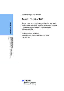 Anger - Friend or foe? - Anger restructuring in cognitive